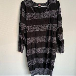 Black & silver sweater dress from Rebel by Torrid